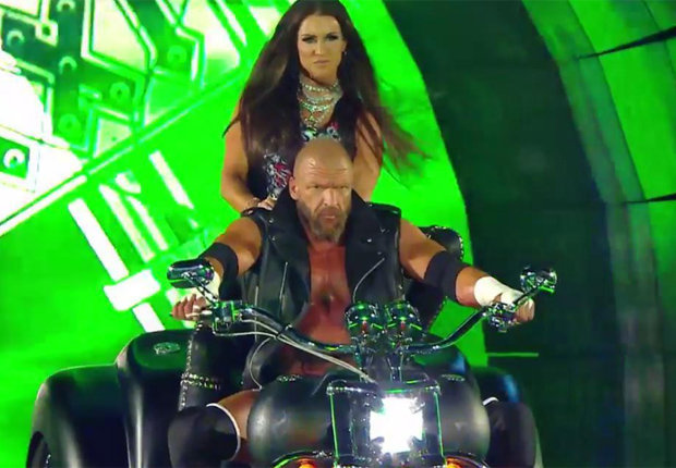 Triple H Stephanie McMahon motorcycle