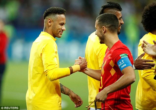 neymar vs eden hazard