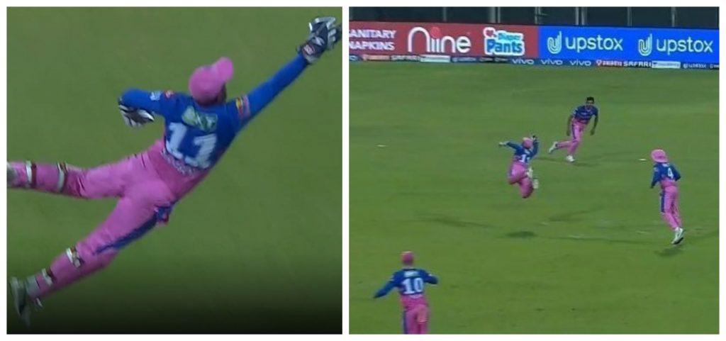 IPL 2021: Sanju Samson grabs a blinder to dismiss Dhawan