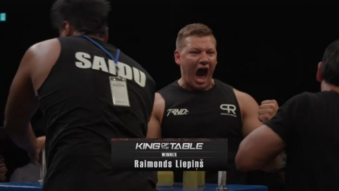 Raimonds Liepiņš defeats India's Mazahir Saidu 4-3 at King of the Table