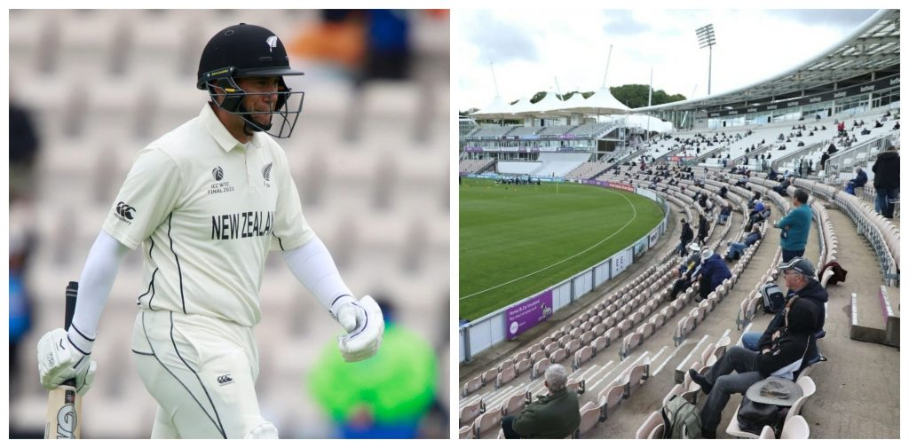Two members ejected from the Hampshire Bowl after hurling racist slurs at Ross Taylor