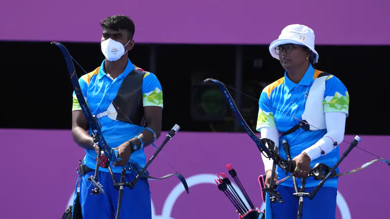 Deepika Kumari-Pravin Jadhav bow out with a loss in Archery mixed team QF clash